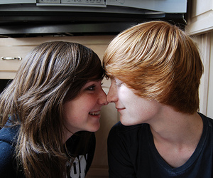 redhead and love image
