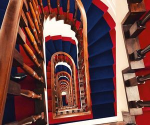 blue, interior, and red image
