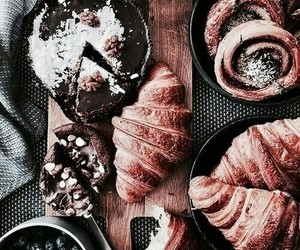 chocolate, croissant, and fall image