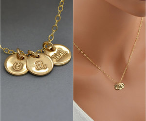 etsy, delicate necklace, and goldnecklace image
