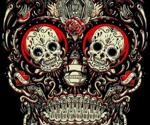 skull, art, and love image