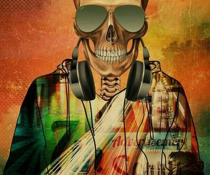 awesome, glasses, and headphones image