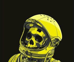 skeleton, skull, and astronaut image