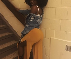 Afro, black girl, and yellow image