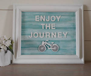 etsy, enjoy the ride, and rustic wood sign image