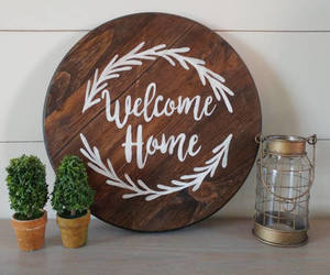 etsy, hand painted, and welcome home image