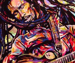 art, rastafari, and bob marley image