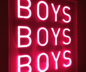 boy, neon, and pink image