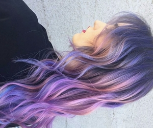 colored hair, girl, and dyed hair image