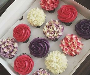baking, cupcakes, and flower image