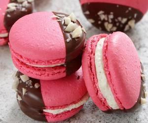 chocolate, food, and pink image