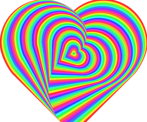 colorful, colors, and heart image