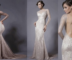 bridal dress, couture wedding gown, and 2018 vera wang image