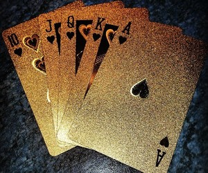 gold, cards, and luxury image