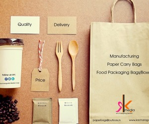 paper bags, product boxes, and food packaging bags image