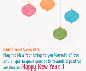 new year new year wishes with name and new year greeting cards image