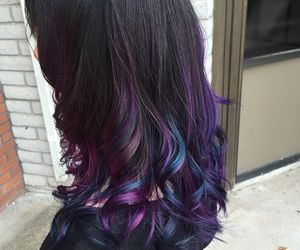 hair dye, hair color, and oil slick image