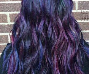 black hair, hair dye, and oil spill image