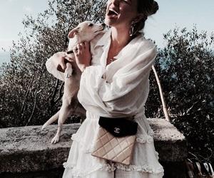 fashion, girl, and dog image