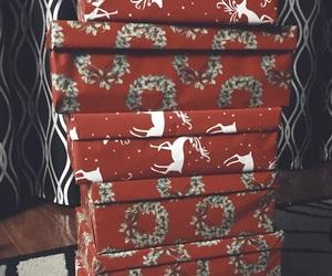 christmas tree, gifts, and jesus image
