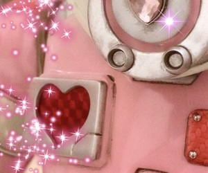 heart, pink, and sparkle image