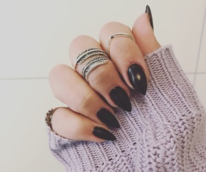 black, nailart, and nails image