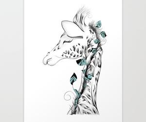 animal, illustration, and society6 image