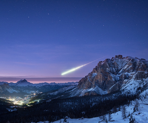 meteor, sky, and space image