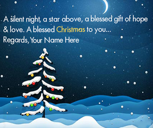 christmas night picture and snow fall christmas night image