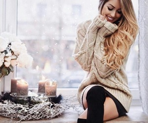 girl, winter, and christmas image