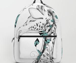 animal, backpack, and boho image
