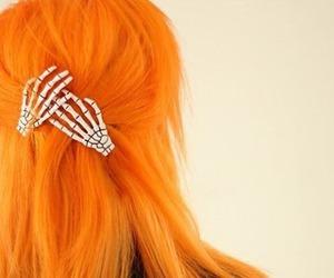 hair, orange, and orange hair image