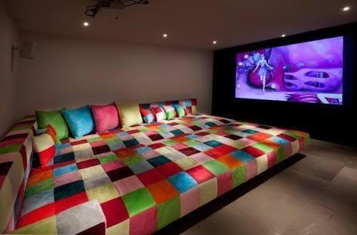 room, tv, and bed image