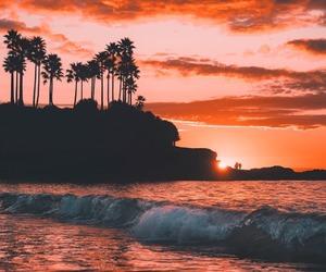 beach, landscape, and sea image