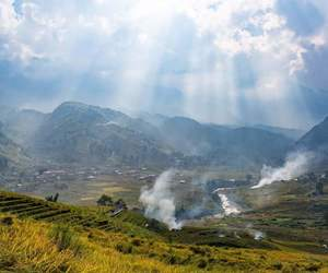 mountains, nature, and sapa image