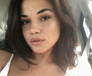 brunette, freckles, and cute image