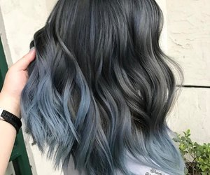 bluehair, midnight, and hairdye image