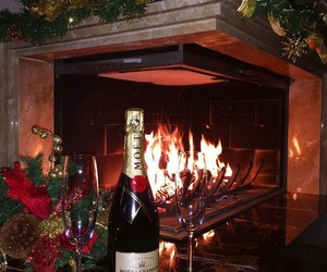 blogger, champagne, and christmas image
