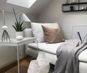 bedroom, Blanc, and Chambre image