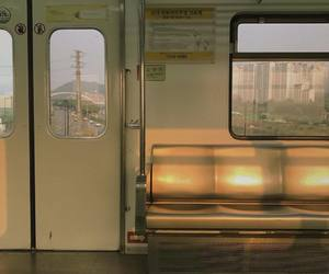 aesthetic, train, and city image