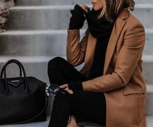 coat, elegant, and dress image