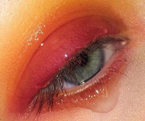 aesthetic, eyes, and orange image