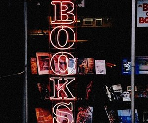 books and neon image