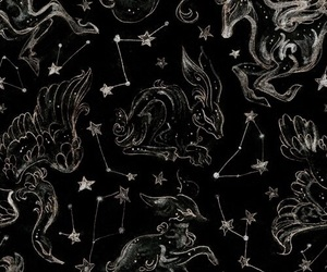 stars, aesthetic, and black image