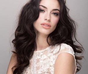 beauty, dark hair, and tiara image