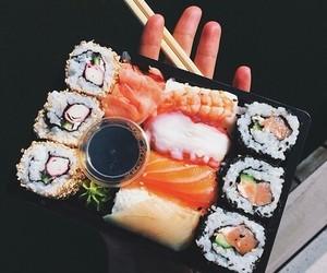 china, delecious, and sushi image
