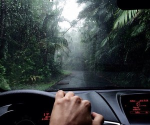 car, nature, and rain image