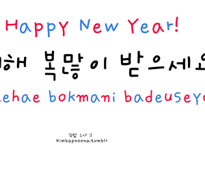 happy new year, korean, and language image