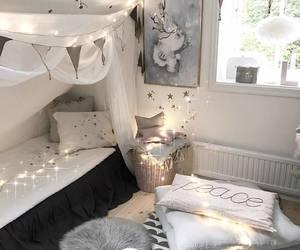 bedroom, black, and Blanc image