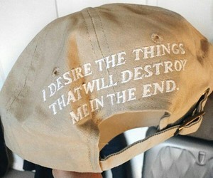 quotes, hat, and brown image
